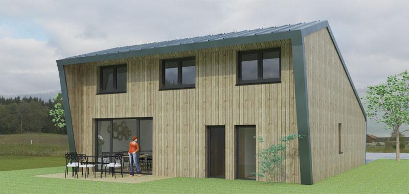 Maison passive en ossature bois de 120m florian stoffel - Resistance thermique maison passive ...
