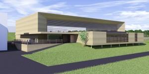 Le gymnase dégage la vue sur l'école maternelle permettant de se repérer facilement dans le complexe scolaire.