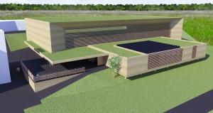 Les vastes toitures végétalisées jouent un rôle important dans la gestion des eaux de pluie.