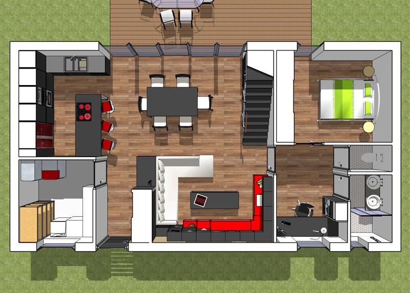 Une maison bbc pour un jeune couple florian stoffel for Plans de maison construits pour une vue