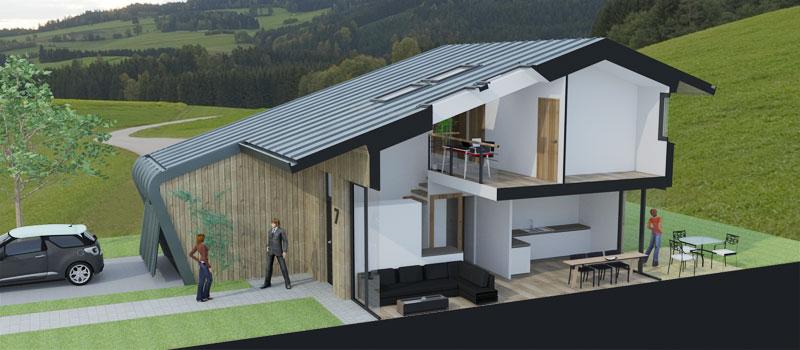 Florian stoffel maison passive en ossature bois de 120m - Maison passive en bois ...